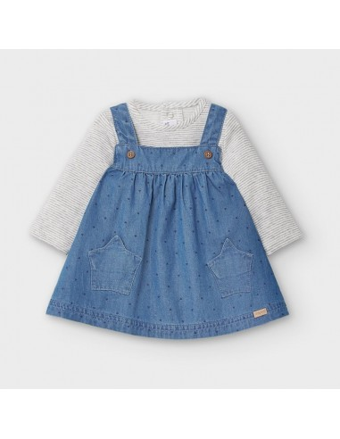 Conj. pichi y camiseta - Blue denim