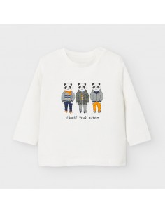 "Camiseta m/l ""friends"" - Nata"
