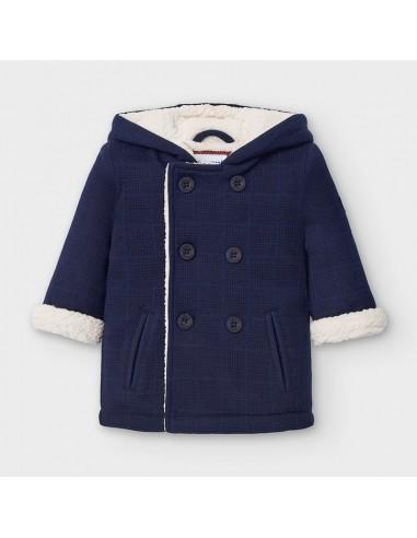 Abrigo soft cuadros - Azul
