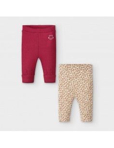 Set 2 leggings - Grosella