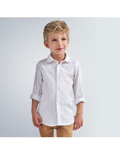 Camisa m/l mini estampado -...