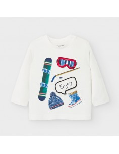 "Camiseta m/l ""play with"" -..."