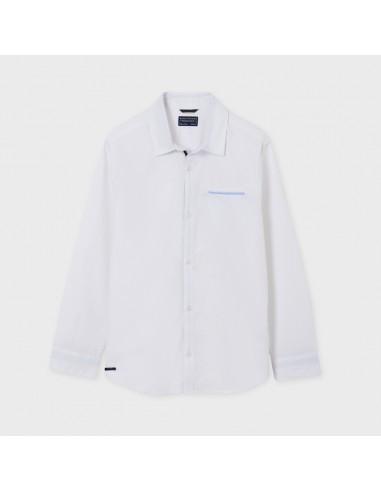 Camisa m/l contrastes - Blanco