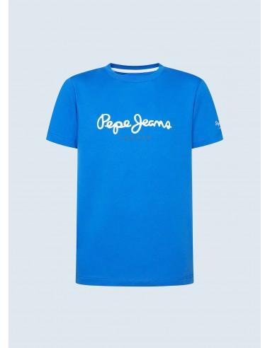 Camiseta básica logo ART_azul