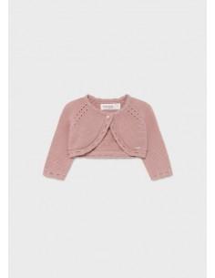 Rebeca corta tricot basica...