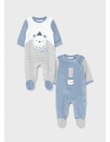 Set 2 peleles tundosado - Baby blue