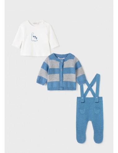 Conj. 3 piezas tricot - Cold blue