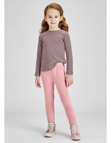 Leggings terciopelo basico - Rosa palo