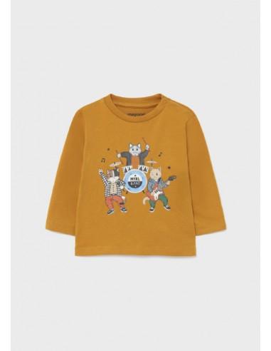 "Camiseta m/l ""myrl band"" - Ocre"
