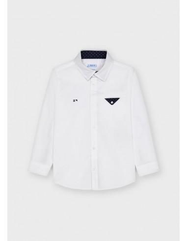 Camisa m/l vestir - Blanco