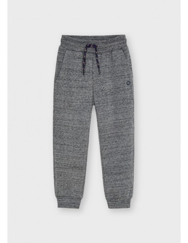 Pantalon felpa basico puños - Gris grind