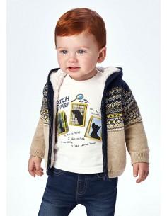 Canguro tricot jacquard -...