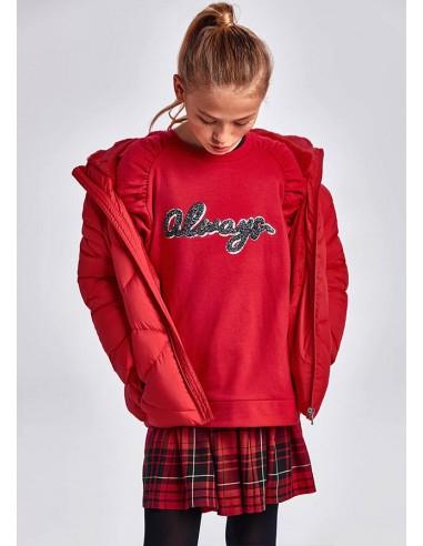 Vestido combinado cuadros - Rojo