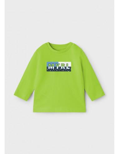 Camiseta m/l basica - Manzana