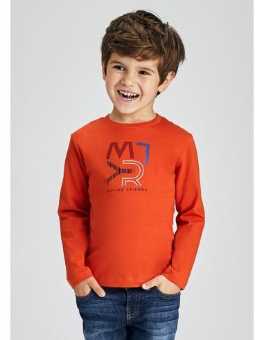 Camiseta m/l basica - Naranja