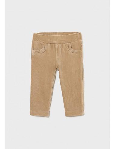 Pantalon punto pana basico - Arena