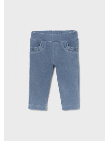 Pantalon punto pana basico - Añil