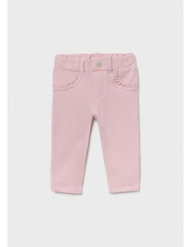 Pantalon felpa basico - Rosa