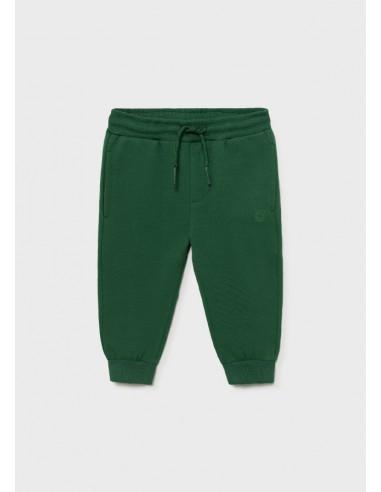 Pantalon felpa basico puños - Pino