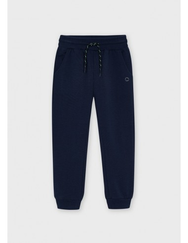 Pantalon felpa basico puños - Marino