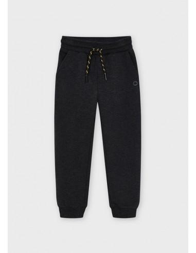 Pantalon felpa basico puños - Grafito vi