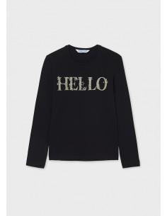 Camiseta m/l basica - Negro