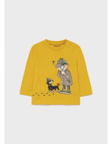 Camiseta m/l detective - Oro