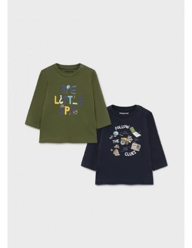 "Set 2 camisetas ""little spy"" - Verde..."