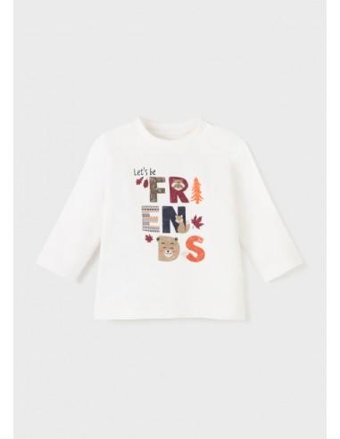 """Camiseta m/l """"friends"""" - Nata"""