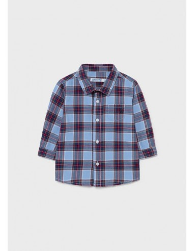 Camisa m/l cuadros viella - Burdeos
