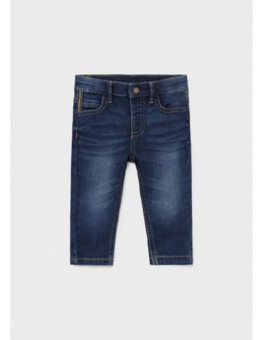 Pantalon soft denim - Oscuro