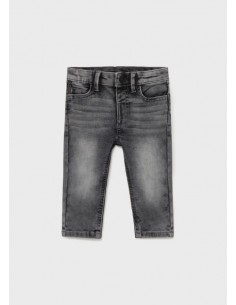 Pantalon soft denim - Gris...