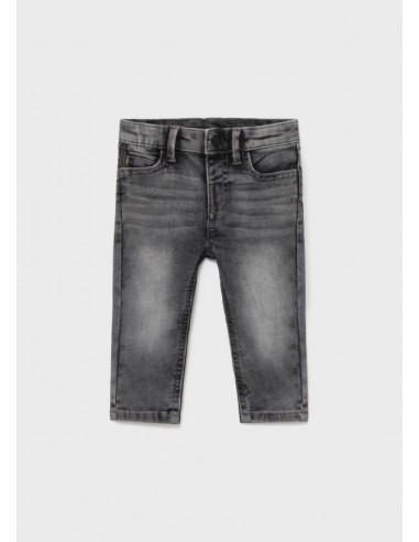 Pantalon soft denim - Gris