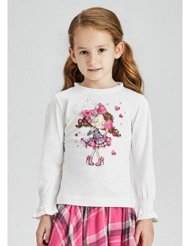 Camiseta m/l muñeca - Crd-fucsia