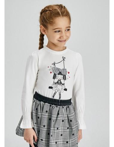 Camiseta m/l muñeca - Crd-negro