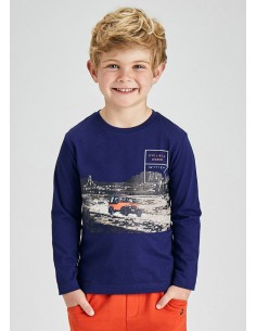Camiseta m/l print banda -...