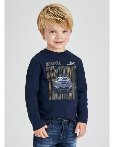 Camiseta m/l serigrafia coche -...