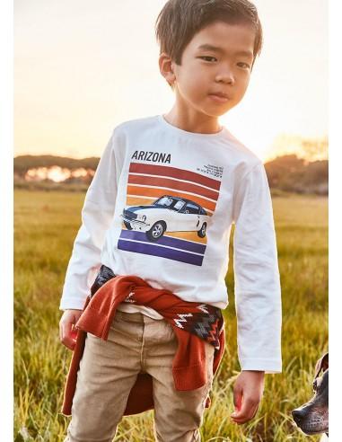 Camiseta m/l serigrafia coche - Nata...
