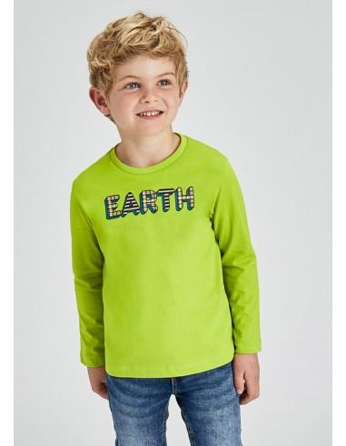 Set 2 camisetas lisa/rayas - Pera
