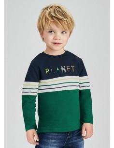 Camiseta m/l combinada -...