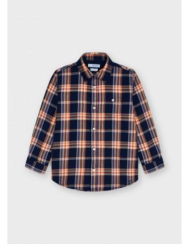 Camisa m/l cuadro grande - Marino