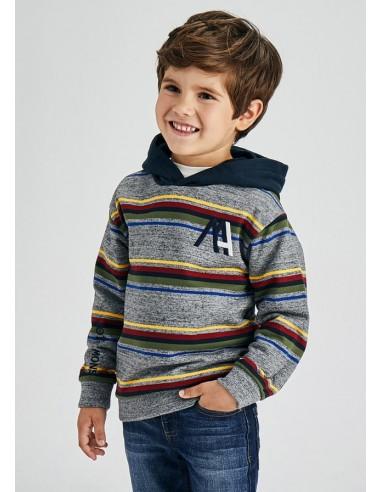 Pullover rayas - Niquel gri
