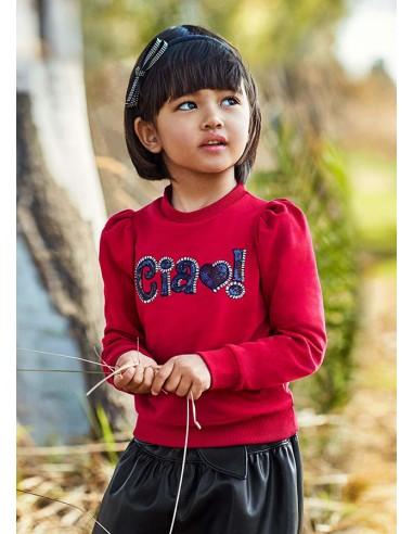 Pullover letra lentejuela - Rojo