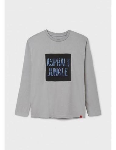 Camiseta m/l bordado camuflaj -...