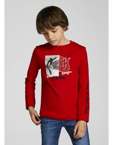 "Camiseta m/l ""let's roll"" - Rojo"