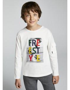 """Camiseta m/l """"freestyle"""" -..."""