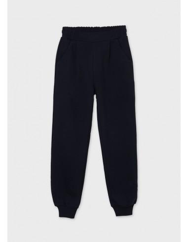 Pantalon largo jogger felpa - Marino