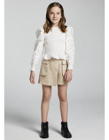 Falda pantalon bolsillos - Tapioca