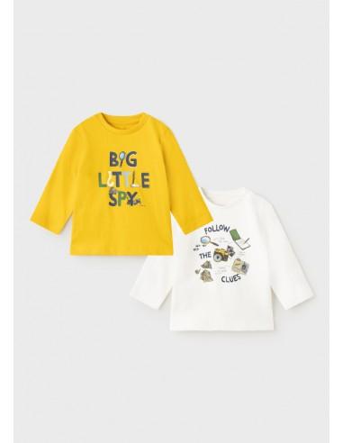 "Set 2 camisetas ""little spy"" - Oro..."