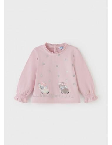 Camiseta m/l - Rosa